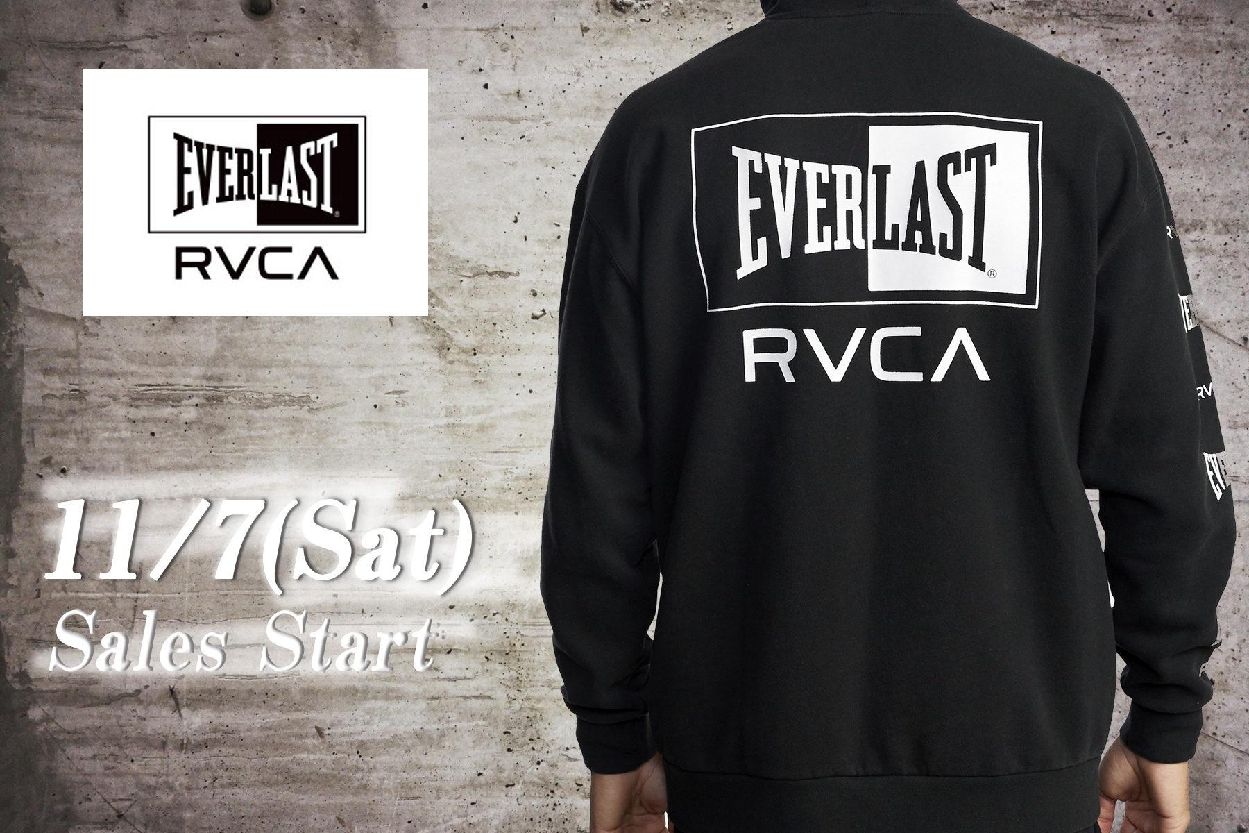 物欲破壊!【RVCA】【EVERLAST】最強コラボアパレルが実現!2020年の冬はこれで決まりだ!11/7(金)、ついに販売スタート!!