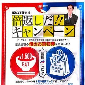 3/19-3/21☆BIGSTEPの倍返しだキャンペーン開催!!!